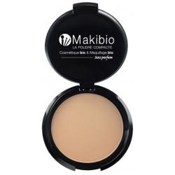 Poudre compacte Nude Naturel 9 gr Makibio maquillage minéral Nude Bio sante senior