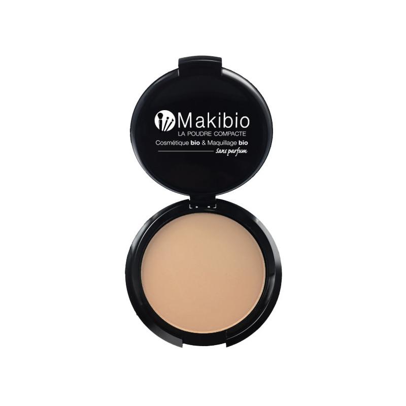 Poudre compacte Nude Naturel 9 gr Makibio maquillage bio