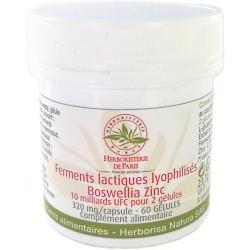 Ferments lactiques lyophilisés Boswellia Zinc MICI 60 Gélules Herboristerie de paris
