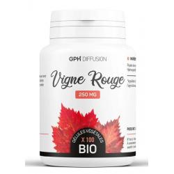 Vigne Rouge Bio 250 mg 200 gélules végétales GPH Diffusion anthocyanes Bio santé sénior
