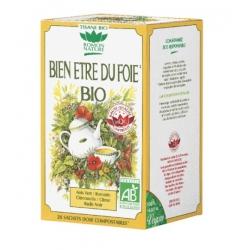 Tisane Bien-être du Foie bio 20 sachets Romon Nature digestion vésicule biliaire Bio sante senior