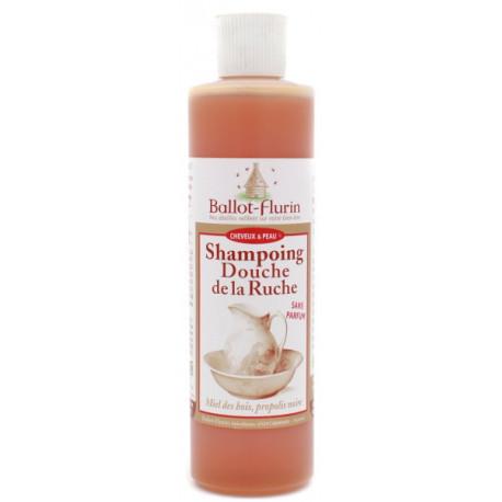 Shampoing Douche de la Ruche Propolis 250 ml Ballot Flurin shampooing Cosmebio Bio sante senior