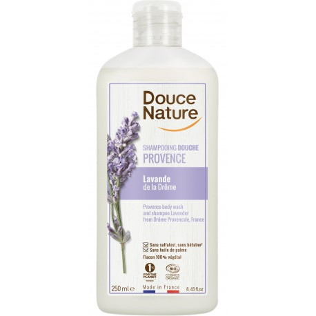 shampooing Douche lavande bio de Provence 500 ml Douce Nature - shampoing douche bio