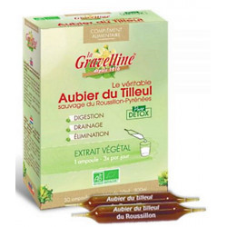 Aubier de tilleul du Roussillon Bio 30 ampoules de 10 ml La Gravelline detox draineur bio Bio santé sénior