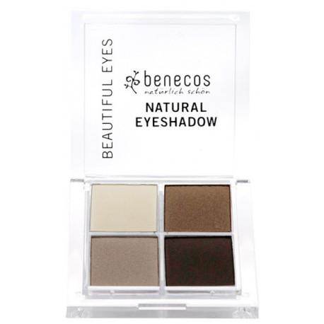 Fard à Paupières 4 Couleurs Coffee et Cream Benecos maquillage minéral des yeux Bio sante senior