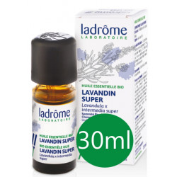 Huile essentielle bio Lavandin x super 30 ml Ladrôme sérénité sommeil Bio sante senior