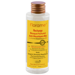 Recharge Bouquet Parfumé Anti Moustiques Bio 100 ml Florame répulsive Bio sante senior