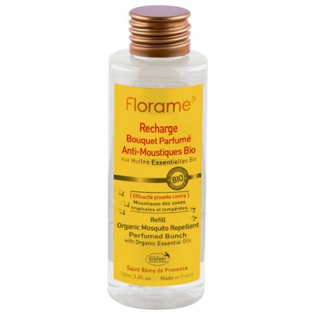 Recharge Bouquet Parfumé Anti Moustiques Bio 100 ml Florame