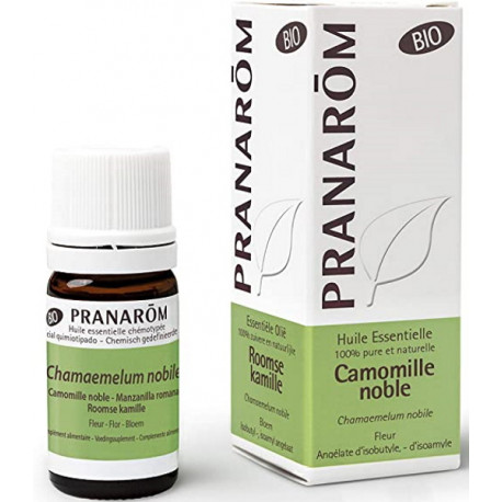 Huile essentielle Camomille noble Bio compte gouttes 5ml Pranarôm camomille romaine stress Bio sante senior