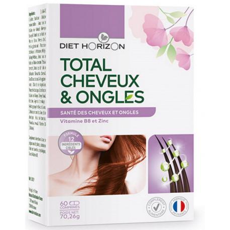 Total Cheveux et Ongles 60 comprimés Diet Horizon nutrition intense Bio sante senior