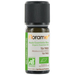 Huile essentielle bio de Tea Tree 10 ml Florame immunité vitalité hygiène buccale Bio sante senior