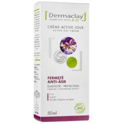 Crème active jour Fermeté Anti age 50 ml Dermaclay acide hyaluronique edelweiss Bio sante senior