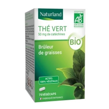 Thé vert bio 75 Gélules Végécaps - Naturland minceur Bio sante senior