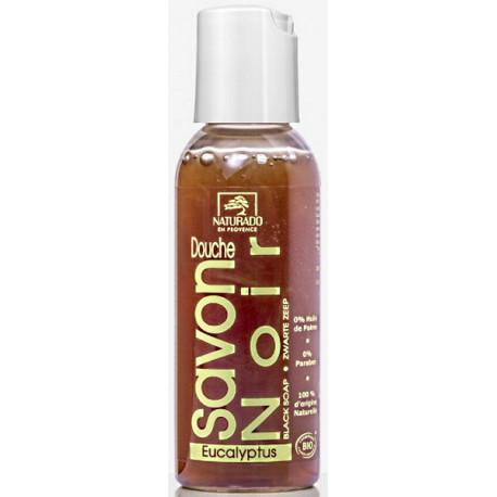 Savon Noir Douche à l'Eucalyptus 50 ml Naturado savon liquide ecocert olivate de potassium Bio sante senior