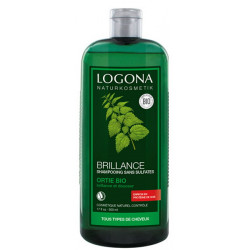 Shampooing brillance ortie 500 ml Logona silicium protéines de soie Bio sante senior