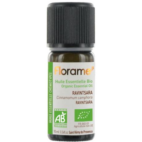 Huile essentielle bio Ravintsara 10 ml Florame assainissante Bio santé sénior