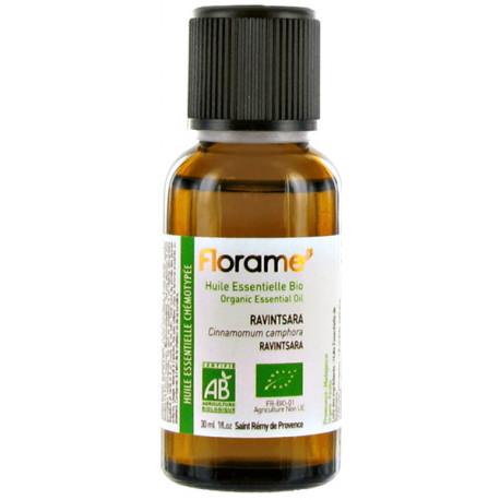 Huile essentielle bio Ravintsara 30 ml Florame aromathérapie respiration Bio santé sénior