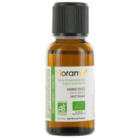 Huile essentielle bio Orange douce 30 ml Florame stress anxiété moral à zéro Bio sante senior