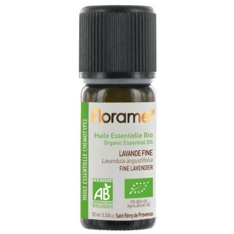 Huile essentielle bio Lavande Fine France 10ml Florame lavande vraie officinale Bio santé sénior