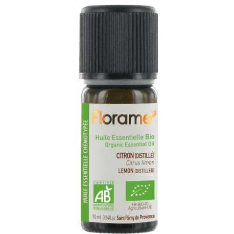 Huile essentielle bio Citron distillé bio 10ml Florame vitalité circulation Bio sante senior