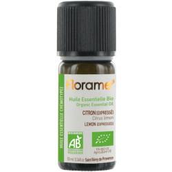 Huile essentielle bio Citron expressé 10 ml Florame detox pureté digestion Bio santé sénior