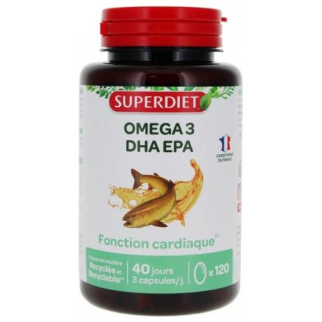Oméga 3 120 capsules Super Diet, EPA, DHA, bio sante senior