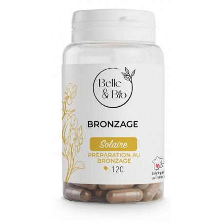 bronzage naturel (Bixa Carotte Bourrache) 120 gélules protection solaire bio sante senior