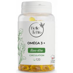 Oméga 3 à 65% acides gras 120 capsules Belle et bio EPA DHA Bio santé sénior
