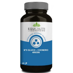 Glucosamine Chondroïtine 400/200 - 60 gélules végétales equi nutri bio sante senior