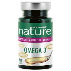 Omega 3 - 90 capsules Boutique Nature DHA EPA fonctionnement cardiaque Bio sante senior