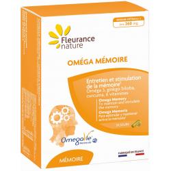 Oméga Mémoire 30 gélules et 30 capsules Fleurance Nature oméga 3 ginkgo curcuma pipérine Bio santé sénior