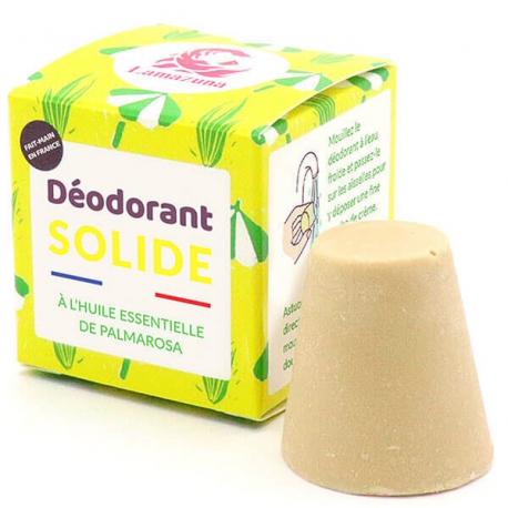 Déodorant solide Palmarosa 30 gr Lamazuna déodorant Vegan Bio santé sénior