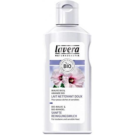 Lait nettoyant doux FACES Amande et Mauve 125 ml Lavera démaquillant peaux sensibles Bio sante senior