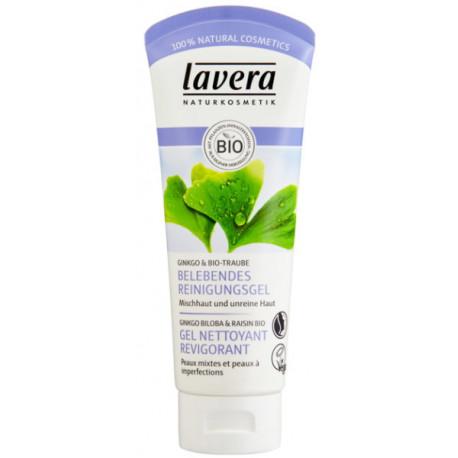 Gel nettoyant revigorant FACES Ginkgo et Raisin 100 ml Lavera vitalité pureté netteté Bio santé sénior