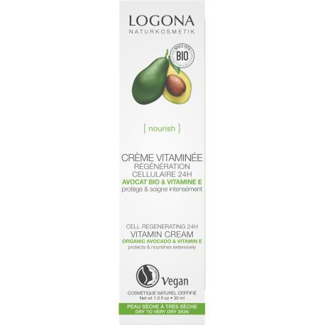 Crème vitaminée régénération cellulaire avocat bio 30ml