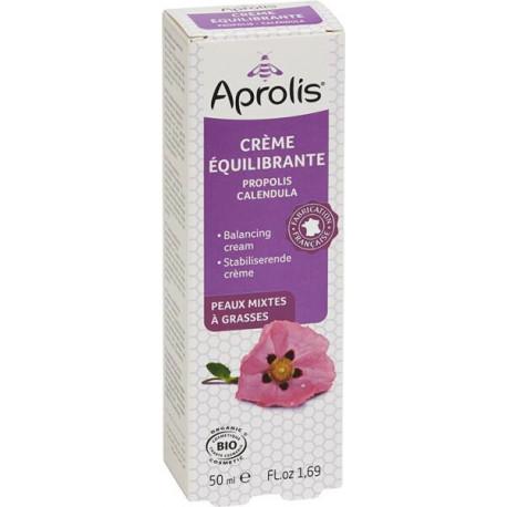 Crème Equilibrante Propolis Calendula bio 50ml  Aprolis peaux à problèmes rougeurs Bio santé sénior