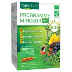 Programme Minceur Bio Lot de 3 boites ampoules Naturland