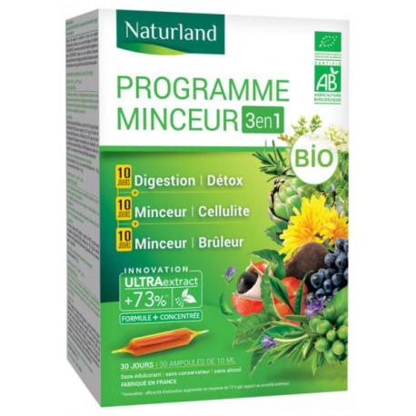 Programme minceur Bio 30 ampoules Naturland biosantesenior.fr
