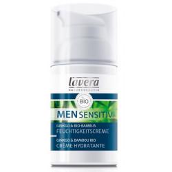 Crème hydratante Men Sensitiv Ginkgo Bambou 30ml Lavera