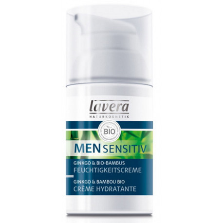 Crème hydratante Men Sensitiv Ginkgo et Bambou 30ml Lavera crème homme Bio sante senior