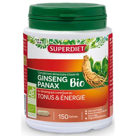 Ginseng Bio Tonus et énergie 150 gélules Super Diet adaptogène, biosantesenior.fr