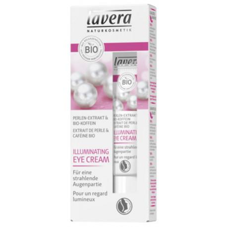 Soin Contour des Yeux Illuminateur de Teint 15ml Lavera luminosité du contour Bio santé sénior