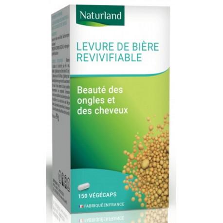 Levure de biere revivifiable 150 gelules Naturland beauté cheveux et ongles Bio sante senior