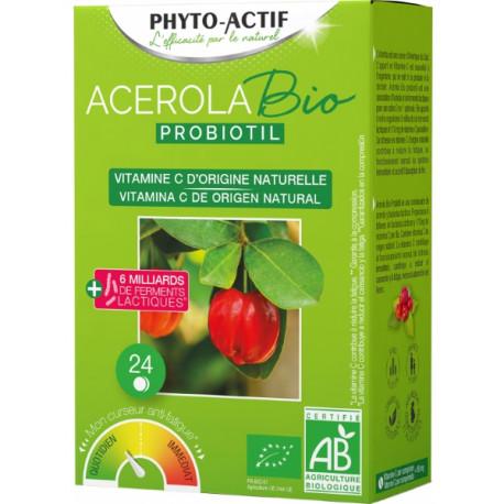 Acérola Probiotil  à partir de 6 ans 24 comprimés - Phyto-actif Bio santé sénior