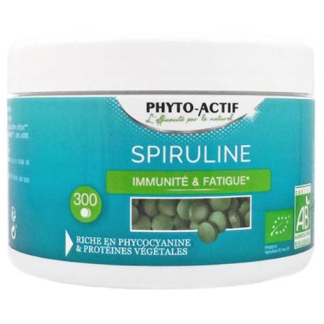 Spiruline bio 100% naturelle Immunité Fatigue 300 comprimés - Phyto-actif bio sante senior