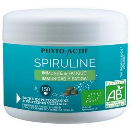 Spiruline bio 100% naturelle 150 comprimés Phyto-actif immunité fatigue Bio sante senior