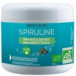 Spiruline bio 100% naturelle Immunité Fatigue 500 comprimés Phyto-actif