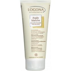 Argile blanche gel prêt à l'emploi Fleur de Lotus cheveux corps 200ml Logona sans agent lavant pureté Bio sante senior