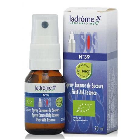 Fleur de bach Secours No 39 Spray (Recue n°39) 20ml Ladrôme choc émotionnel Bio sante senior