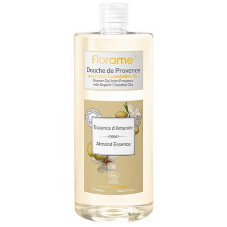 Gel Douche de Provence Essence d'Amande 1 litre Florame senteur dynamique bio santé sénior